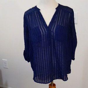 Torrid blue sheer shirt size 00
